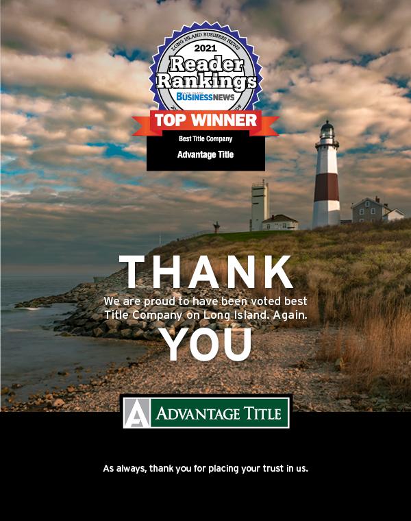 Long Island Business News-Congratulations Advantage Title
